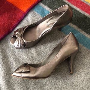 BR Pewter Leather Heels - only avail. till Nov. 1!